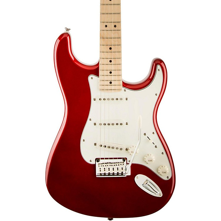 Squier Standard Stratocaster Electric Guitar Candy Apple Red Maple Fretboard
