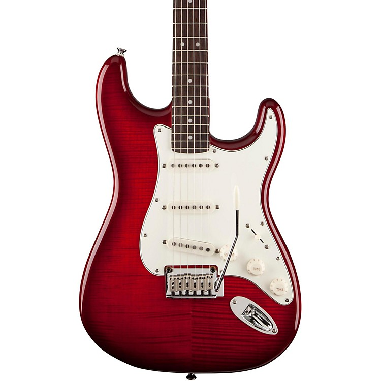 SquierStandard Stratocaster FMTTransparent Ebony
