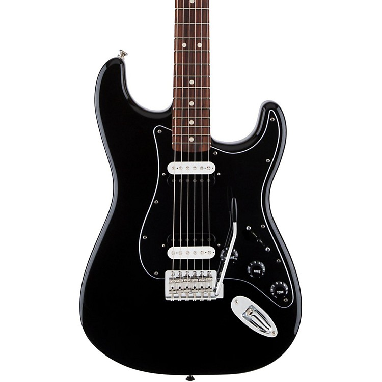 FenderStandard Stratocaster HH Rosewood Fingerboard Electric GuitarBlack