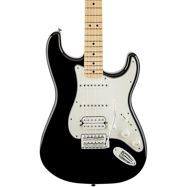 FenderStandard Stratocaster HSS Electric GuitarBlackGloss Maple Fretboard