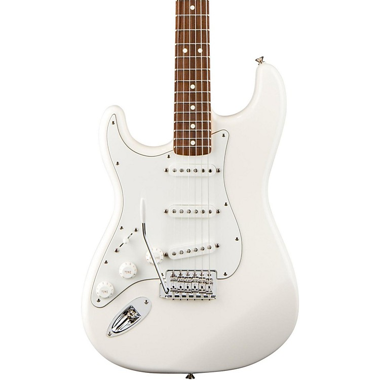 FenderStandard Stratocaster Left Handed  Electric GuitarArctic WhiteRosewood Fretboard