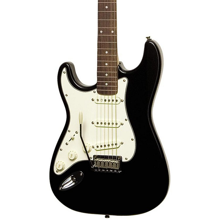 Squier Standard Stratocaster Left-Handed Electric Guitar Black Metallic Rosewood Fretboard