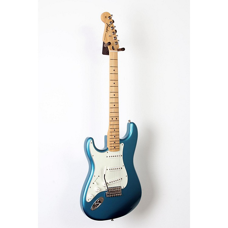 Fender Standard Stratocaster Left Handed  Electric Guitar Lake Placid Blue, Gloss Maple Fretboard 888365842356