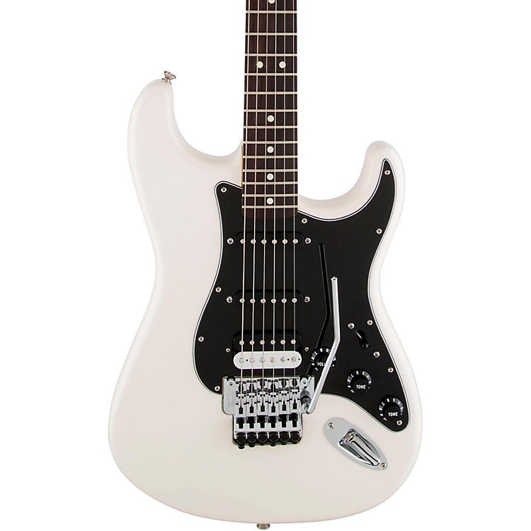 Fender Standard Stratocaster w/Floyd Rose HSS Rosewood Fingerboard Electric Guitar Olympic White