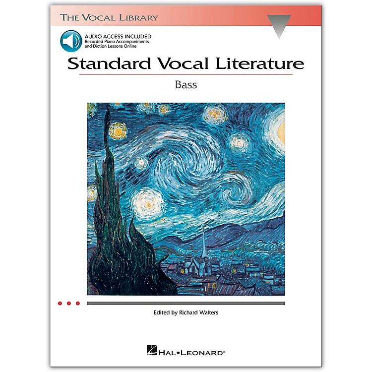 Hal LeonardStandard Vocal Literature for Bass Voice (Book/Online Audio)