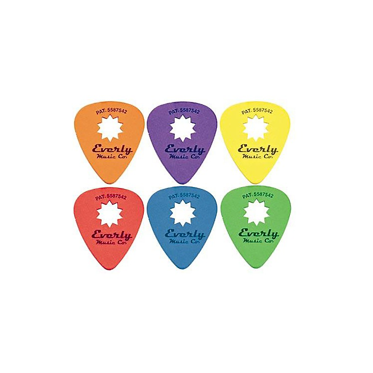 Everly Star Grip Guitar Pick Dozen Orange .60 mm