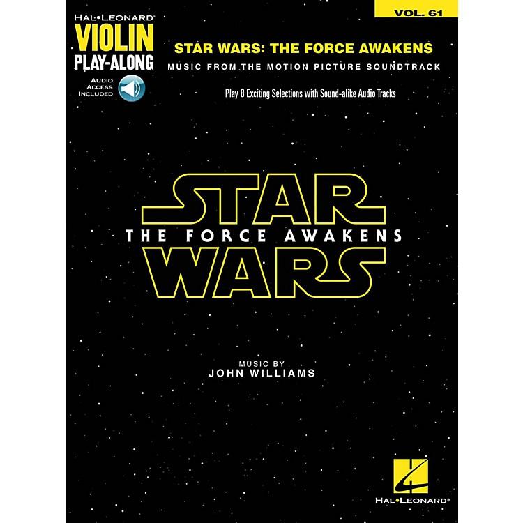 Hal LeonardStar Wars - The Force Awakens Violin Play-Along Volume 61 (Book/Audio Online)