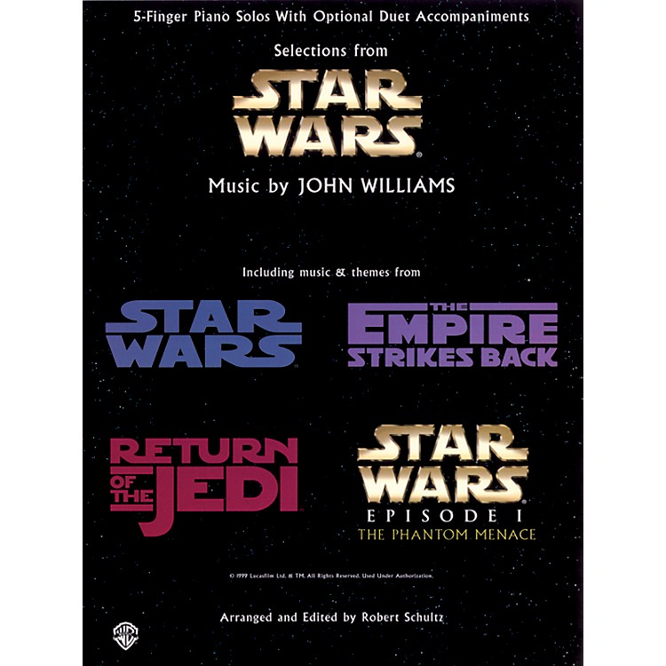 Hal Leonard Star Wars Five Finger Piano Book