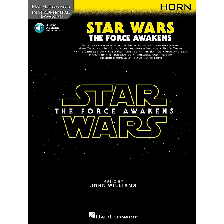 Hal LeonardStar Wars: The Force Awakens For Horn - Instrumental Play-Along Book/Online Audio