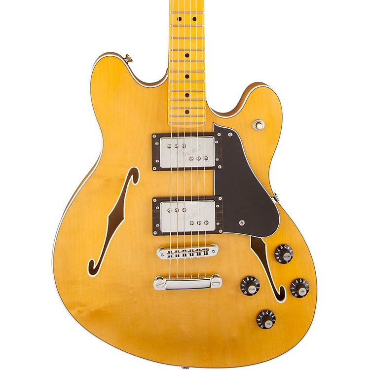 Fender Starcaster Semi-Hollowbody Electric Guitar Natural Maple Fingerboard