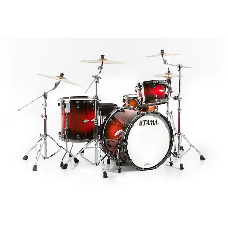 Tama Starclassic Bubinga Exotix 3-Piece Shell Kit with Black Nickel Shell Hardware Jungle Burst Quilted Bubinga