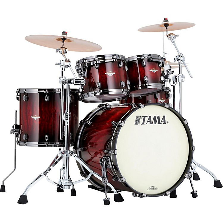 tama starclassic bubinga exotix 4 piece shell pack with black nickel hardware music123. Black Bedroom Furniture Sets. Home Design Ideas