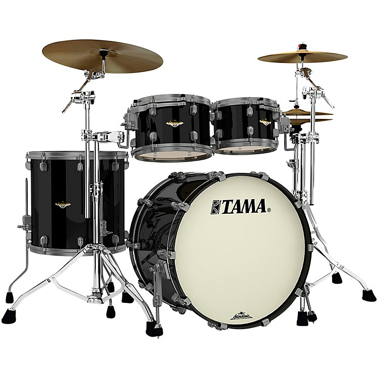 TAMAStarclassic Maple 4-Piece Shell Pack with Smoked Black Nickel Hardware and 22