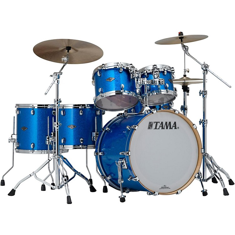 TamaStarclassic Performer B/B 5-Piece Shell Pack with 22 In. Bass DrumVintage Blue Sparkle