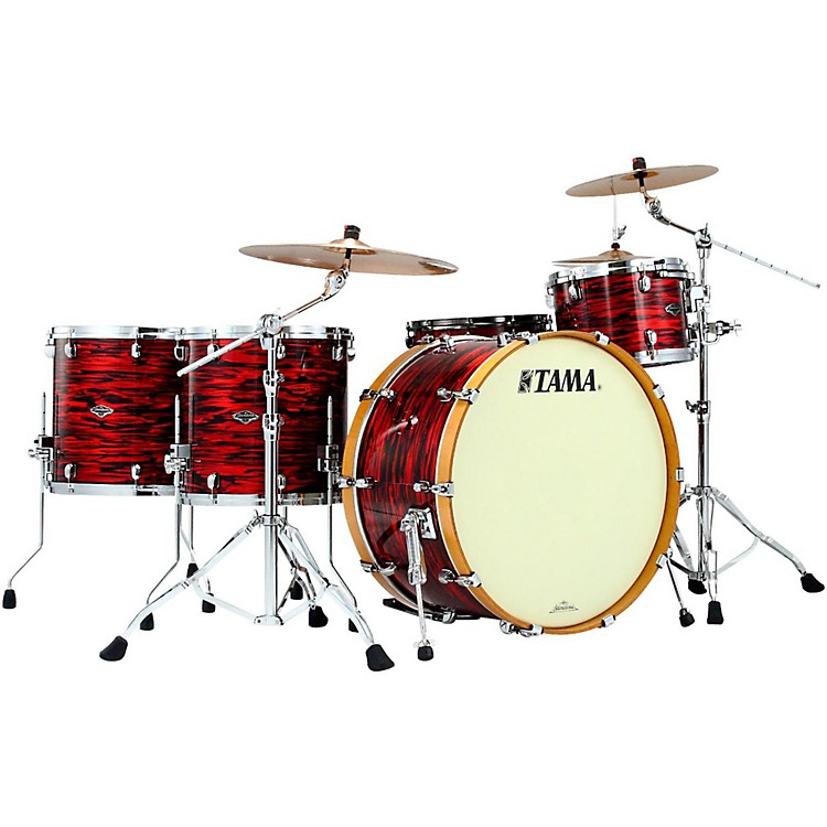 Tama Starclassic Performer B/B Yesteryear Classic Edition 4-Piece Classic Rock Shell Pack Red Oyster