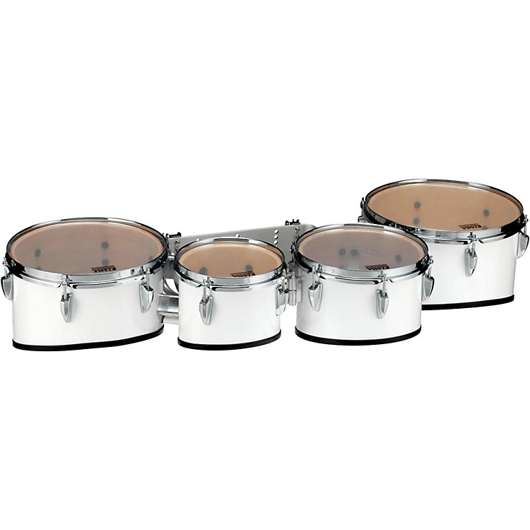 Tama Marching Starlight Marching Tenor Drums Quad with Carrier 8, 10, 12, 13 in. Sugar White