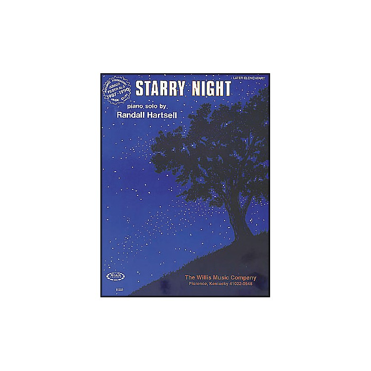 Willis Music Starry Night Later Elementary Piano Solo by Randall Hartsell
