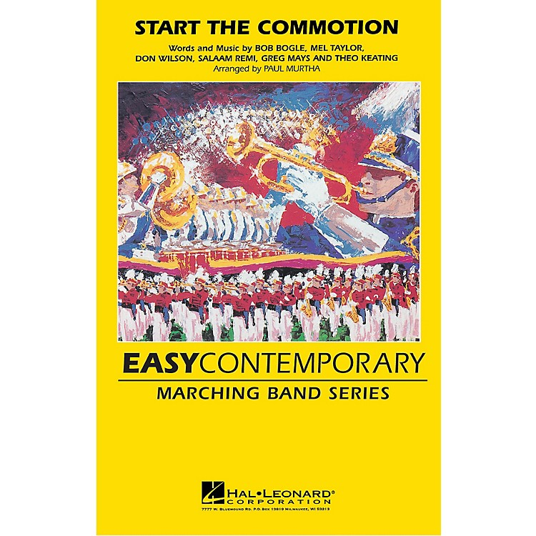 Hal Leonard Start the Commotion Marching Band Level 2-3 by The Wiseguys Arranged by Paul Murtha