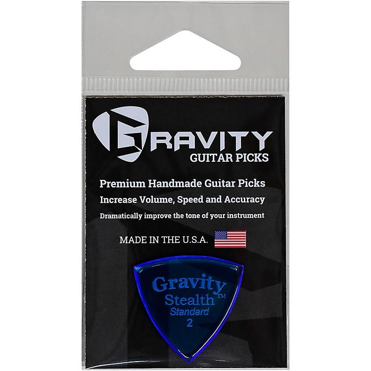 GRAVITY PICKSStealth Standard Polished Blue Guitar Picks2.0 mm