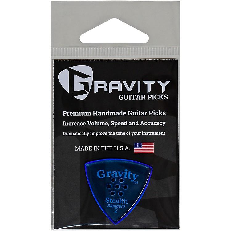 GRAVITY PICKSStealth Standard Polished Blue Multi-Hole Guitar Picks2.0 mm
