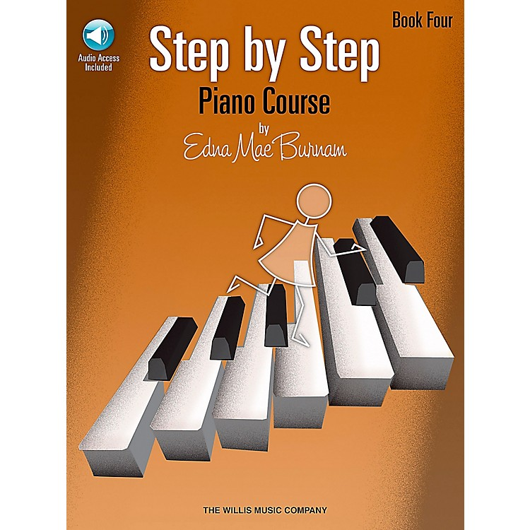 Willis MusicStep By Step Piano Course Book 4 Book/CD