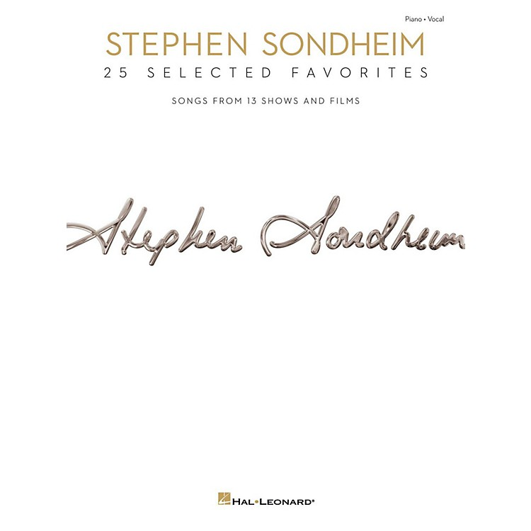 Hal Leonard Stephen Sondheim - 25 Selected Favorites for Piano/Vocal/Guitar