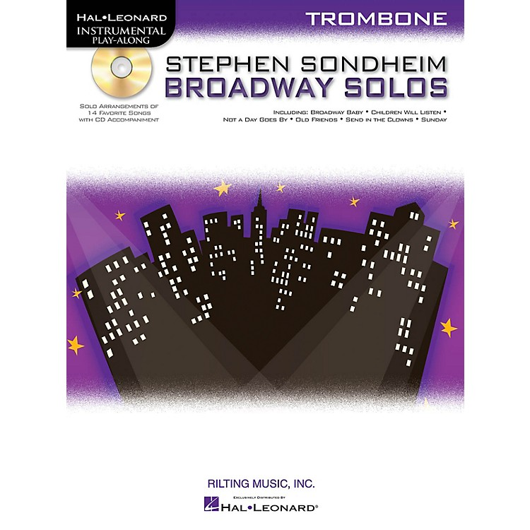 Hal Leonard Stephen Sondheim - Broadway Solos (Trombone) Instrumental Play-Along Series Softcover with CD