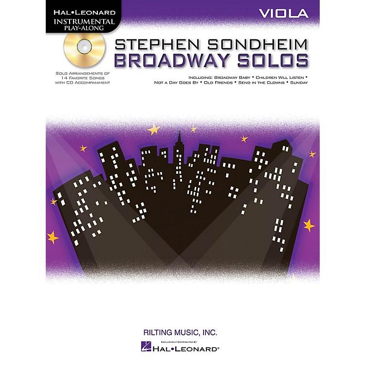 Hal LeonardStephen Sondheim - Broadway Solos (Viola) Instrumental Play-Along Series Softcover with CD