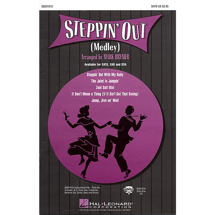 Hal LeonardSteppin' Out (Medley) SAB Arranged by Mark Brymer