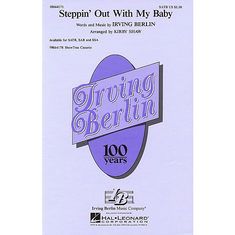 Hal LeonardSteppin' Out with My Baby SATB arranged by Kirby Shaw