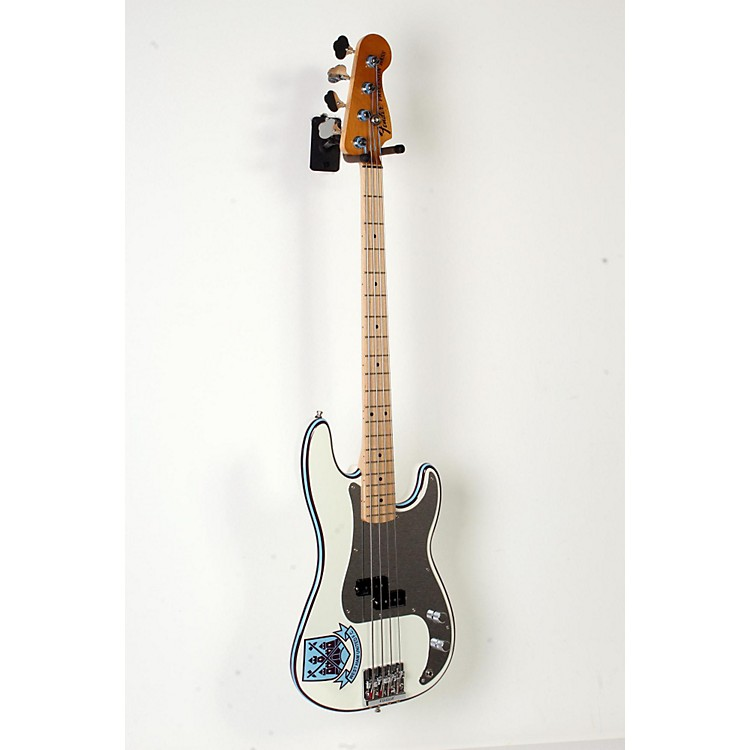 Fender Steve Harris Signature Precision Bass Electric Bass Guitar Olympic White with Pinstripe 888365899848