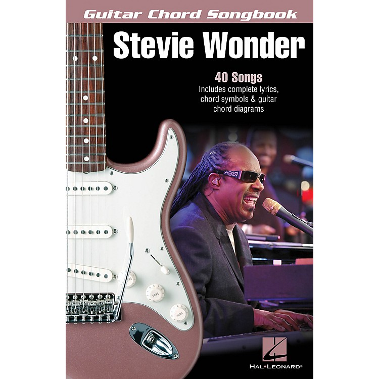 Hal Leonard Stevie Wonder - Guitar Chord Songbook Guitar Chord Songbook Series Softcover Performed by Stevie Wonder