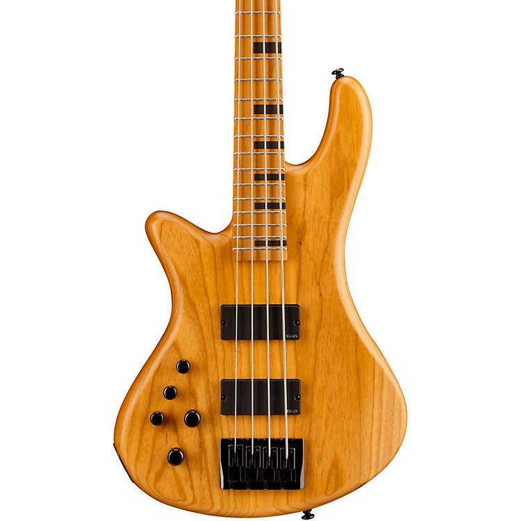 Schecter Guitar ResearchStiletto-4 Session Left Handed Electric Bass GuitarSatin Aged Natural