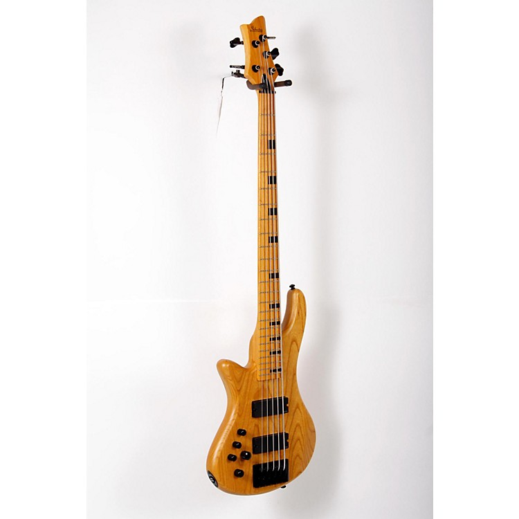 Schecter Guitar Research Stiletto-5 Session 5 String Left Handed Electric Bass Guitar Satin Aged Natural 888365840277