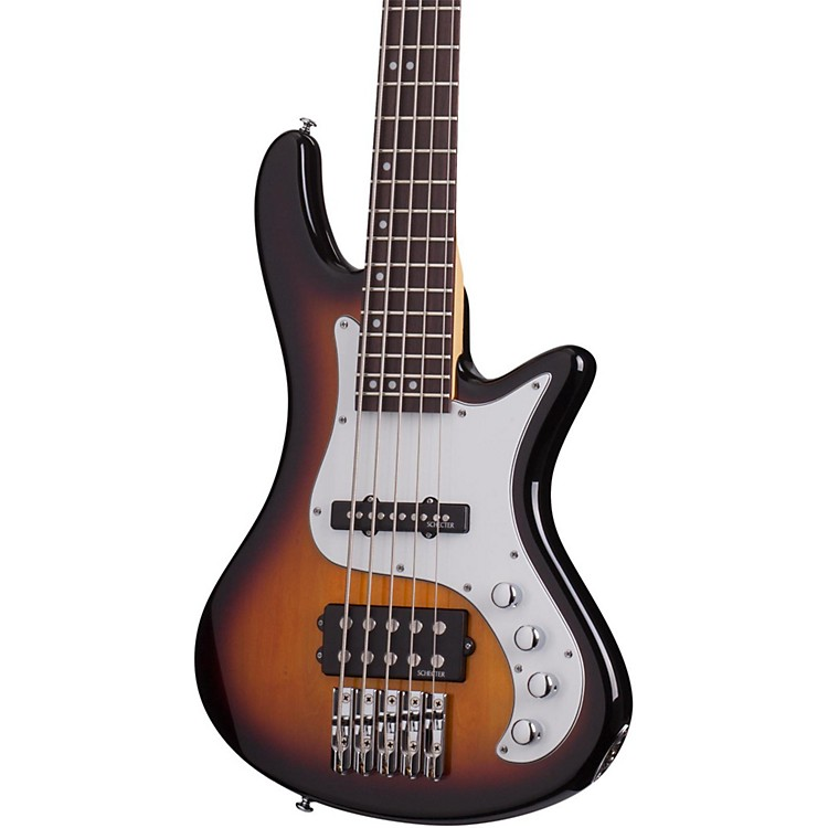Schecter Guitar ResearchStiletto Vintage-5 Five-String Electric Bass Guitar3-Color Sunburst