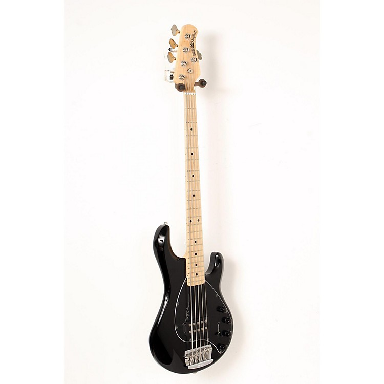 Ernie Ball Music Man StingRay 5 5-String Bass Guitar Black, Maple Fretboard 888365851730