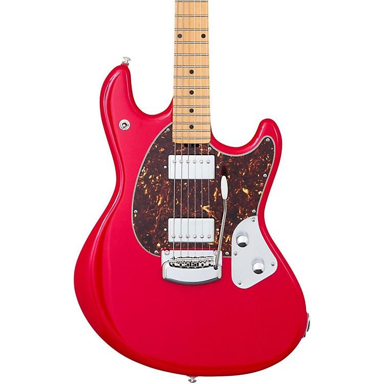 Ernie Ball Music ManStingRay Trem Maple Fingerboard Electric GuitarChili Red