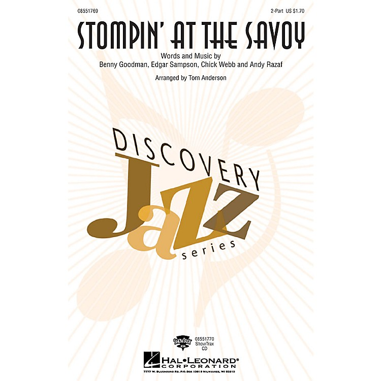 Hal LeonardStompin' at the Savoy 2-Part arranged by Tom Anderson