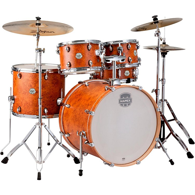 Mapex Storm Rock 5-piece Drum Set Camphor Wood Grain