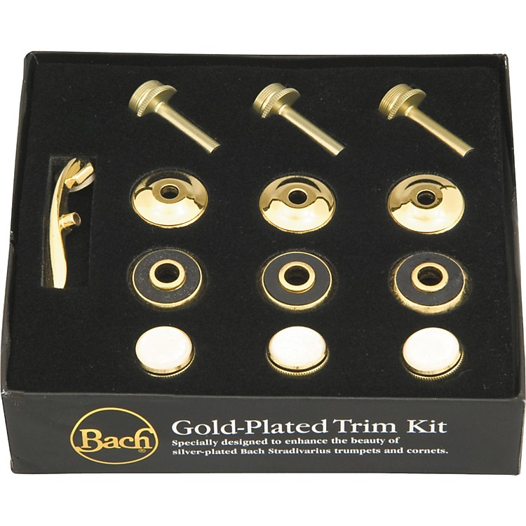 BachStradivarius Trumpet Gold Trim KitWith Standard Bottom Caps