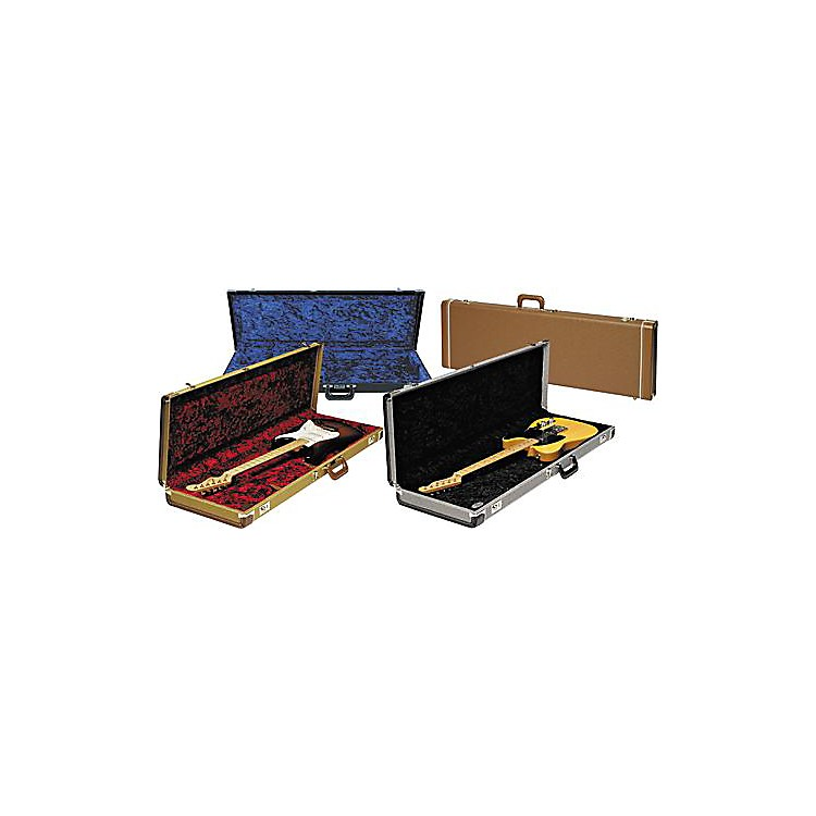 FenderStrat/Tele Hardshell CaseGold TweedBlack Plush