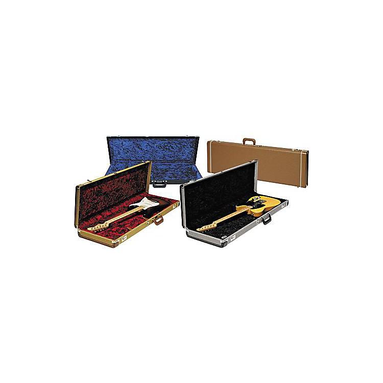 FenderStrat/Tele Hardshell CaseGold TweedBlack Plush Interior