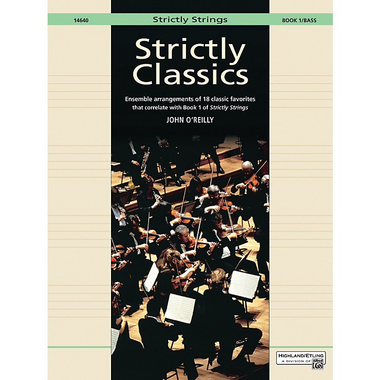 AlfredStrictly Classics Book 1 Bass