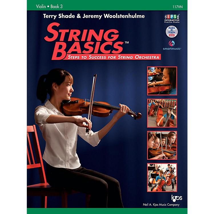 KJOSString Basics Book 3 - Violin