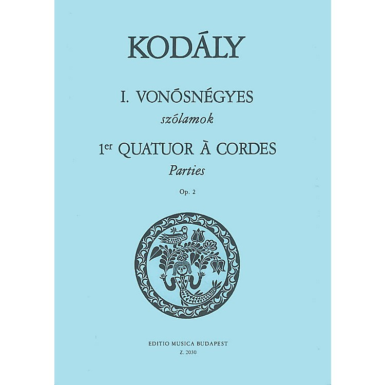Editio Musica BudapestString Quartet No. 1, Op. 2 (Parts) EMB Series Composed by Zoltán Kodály