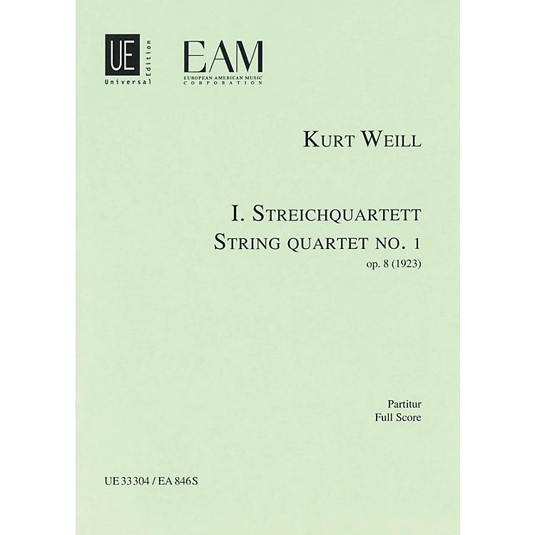 Universal EditionString Quartet No. 1, Op. 8 (Score) Study Score Series Composed by Kurt Weill