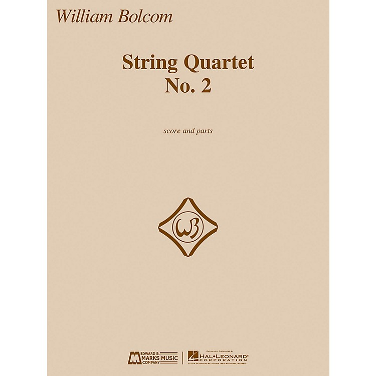 Edward B. Marks Music Company String Quartet No. 2 E.B. Marks Series Composed by William Bolcom