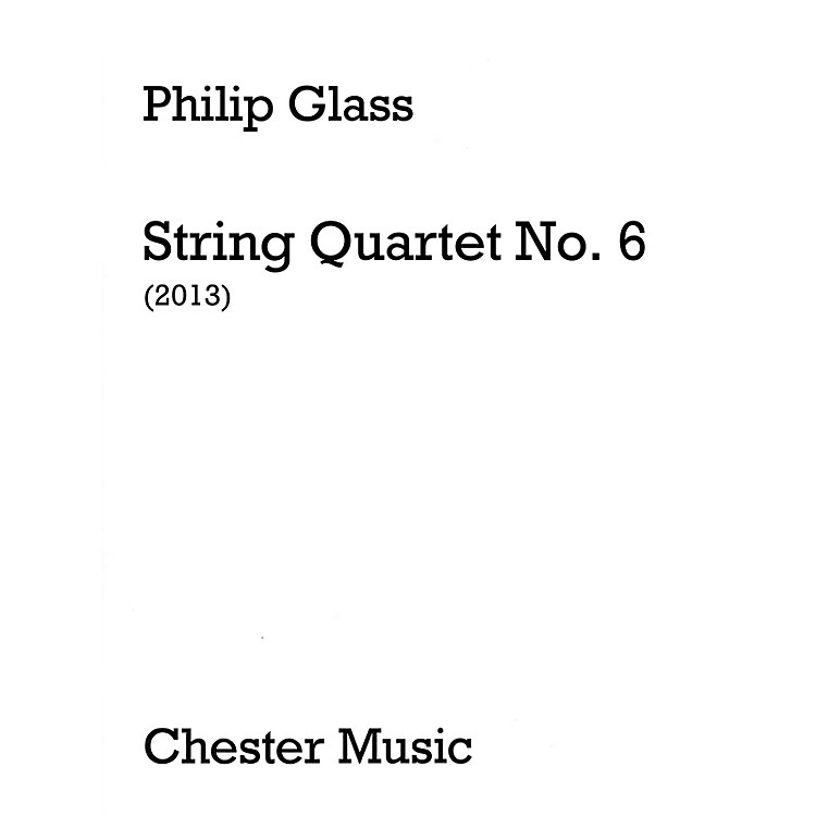 Music SalesString Quartet No. 6 (Score Only) Music Sales America Series Softcover Composed by Philip Glass