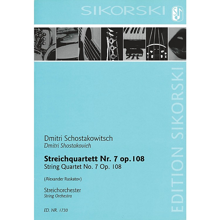 SikorskiString Quartet No. 7, Op. 108 (for String Orchestra Study Score) Study Score Series by Alexander Raskatov