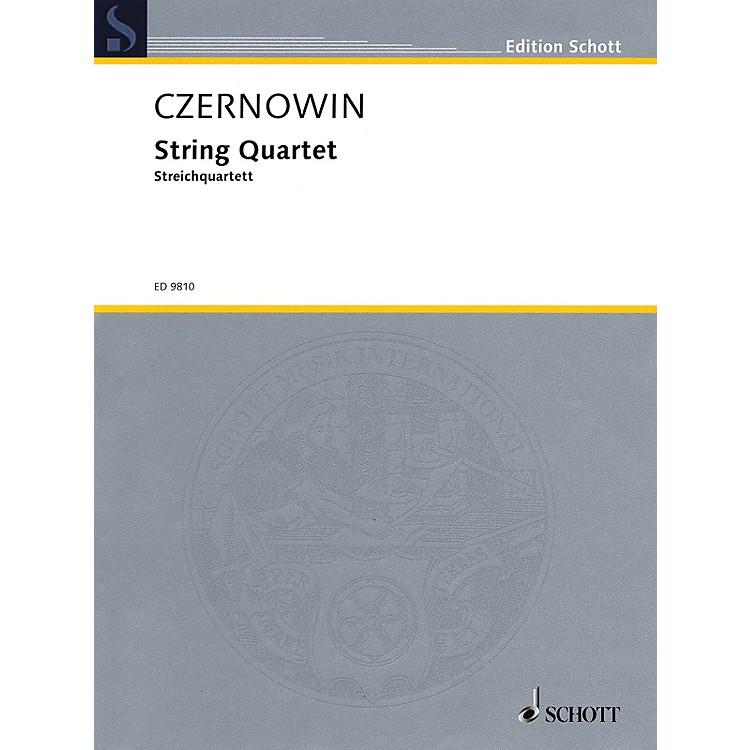 SchottString Quartet (Score and Parts) Schott Series Composed by Chaya Czernowin